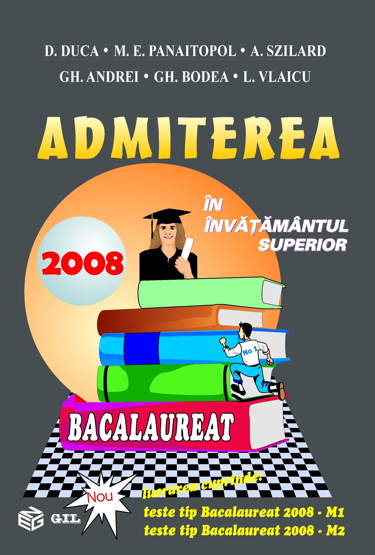 Admiterea in invatamantul superior 2008