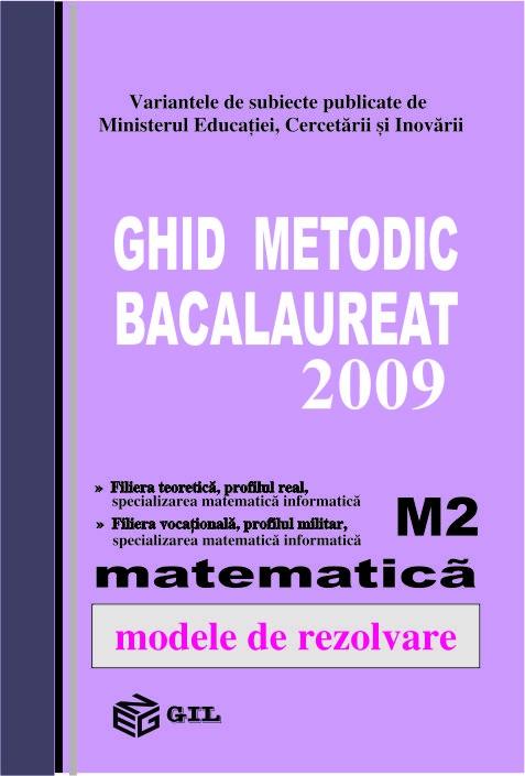 Bacalaureat 2009 M2 (100 variante)