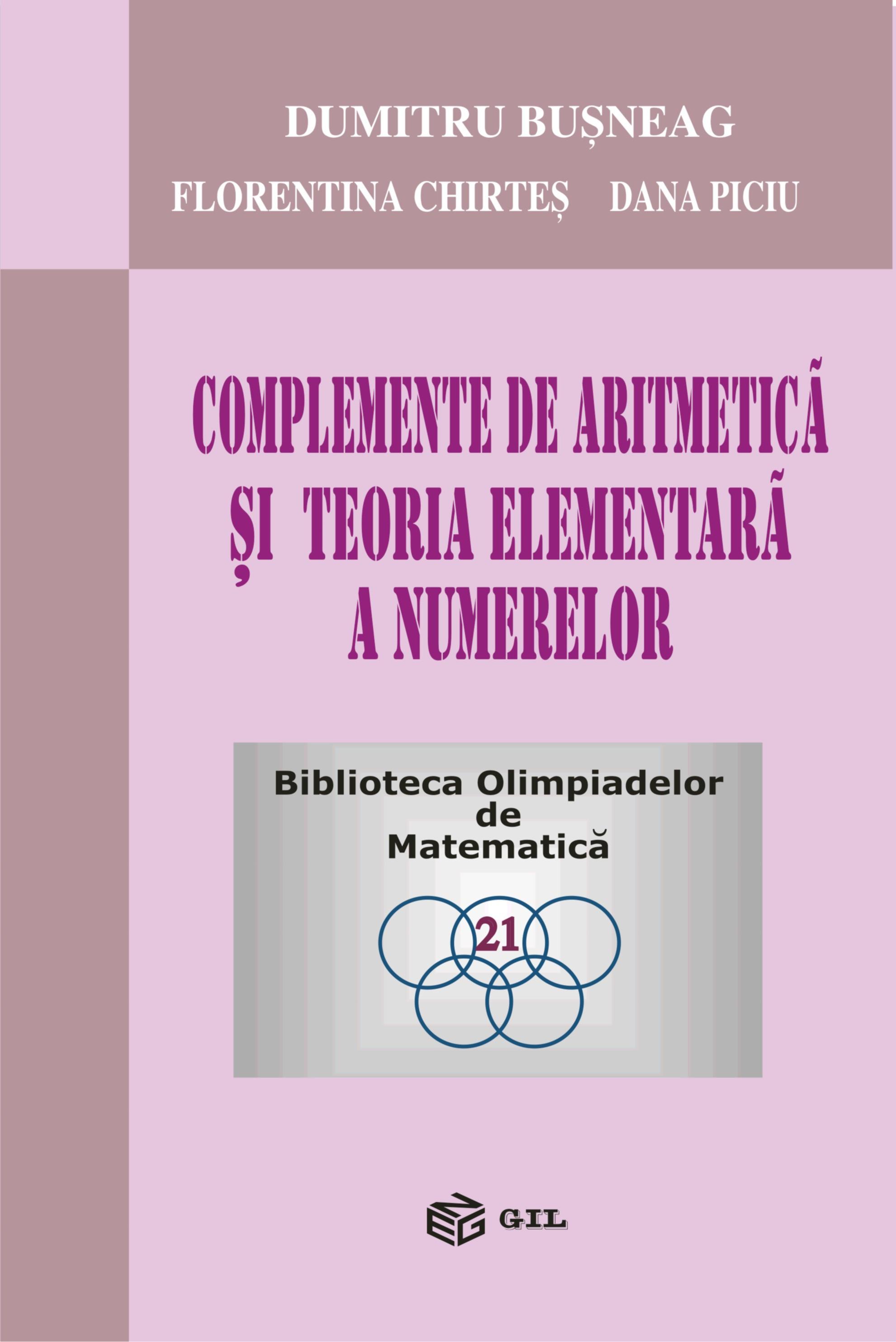 Complemente de aritmetica si teoria elementara a numerelor