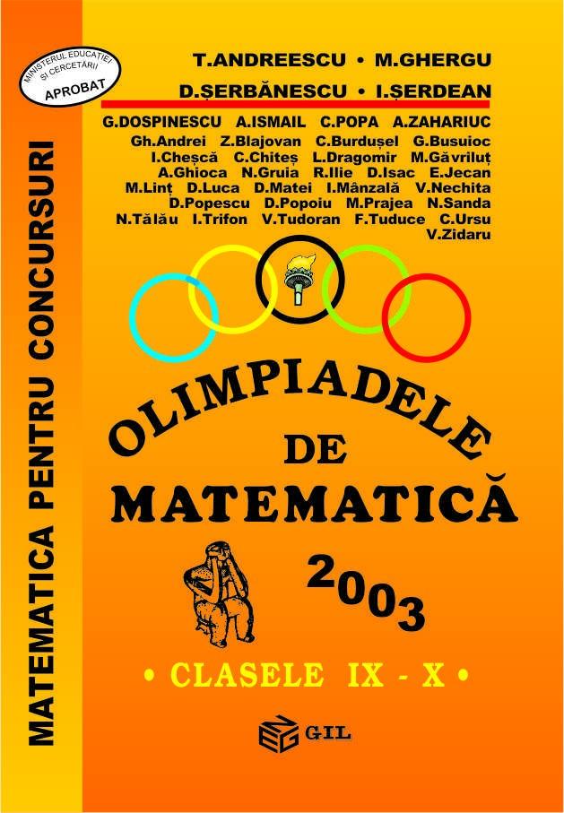 Olimpiade de matematica cls. IX-X 2003